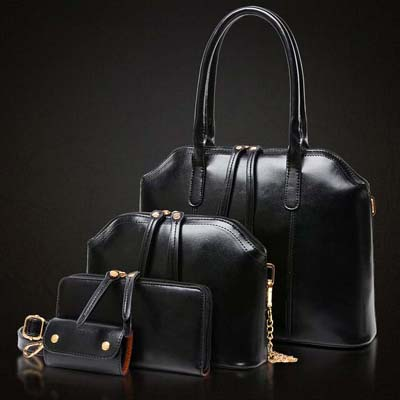 6763 4 in 1 Elegant Handbag (Black)