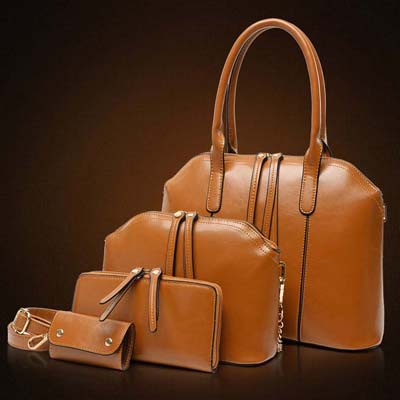 6763 4 in 1 Elegant Handbag (Brown)