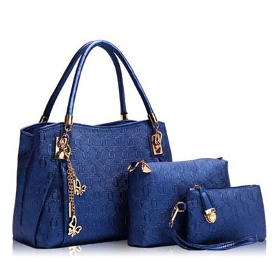 6836 Elegant 3 in 1 Handbag (Blue)